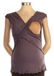Japanese Weekend During & After Sleeveless Cross Front Maternity/Nursing top