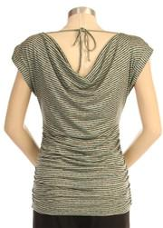 Japanese Weekend Dramatic Back Drape Maternity Breastfeeding top back view
