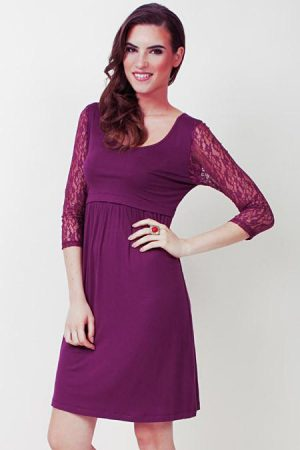DOTE Julia Breastfeeding Maternity Dress close up