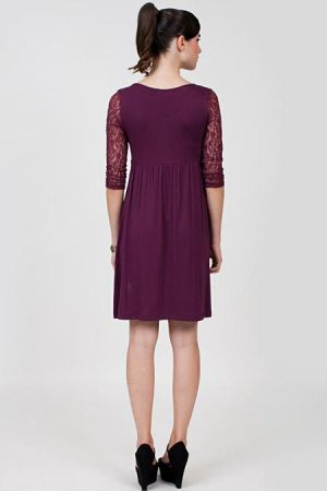 DOTE Julia Breastfeeding Maternity Dress back view