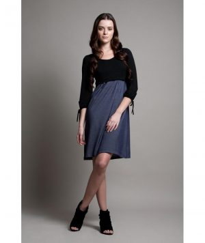 DOTE Patti Maternity Nursing Dress full length
