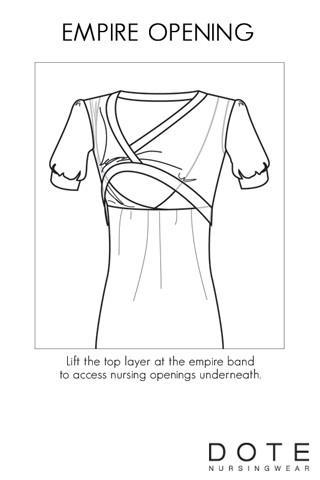 DOTE Patti Maternity/Nursing Dress