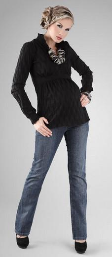 Happy Mum Lilly Black Maternity Shirt