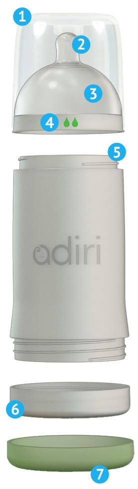 Adiri NxGen Nurser close up of logo on bottle