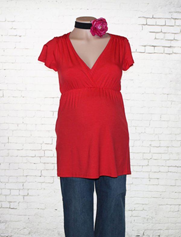 Queen mum nursing tee in red