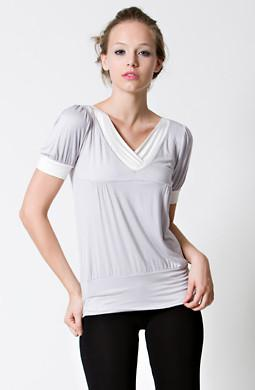 dote slate breastfeeding top close up in grey