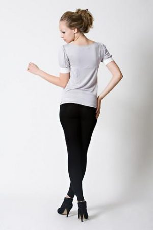 dote slate breastfeeding top back view in grey