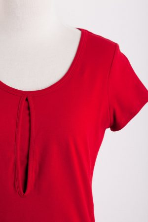 DOTE Keyhole Nursing Top red close up