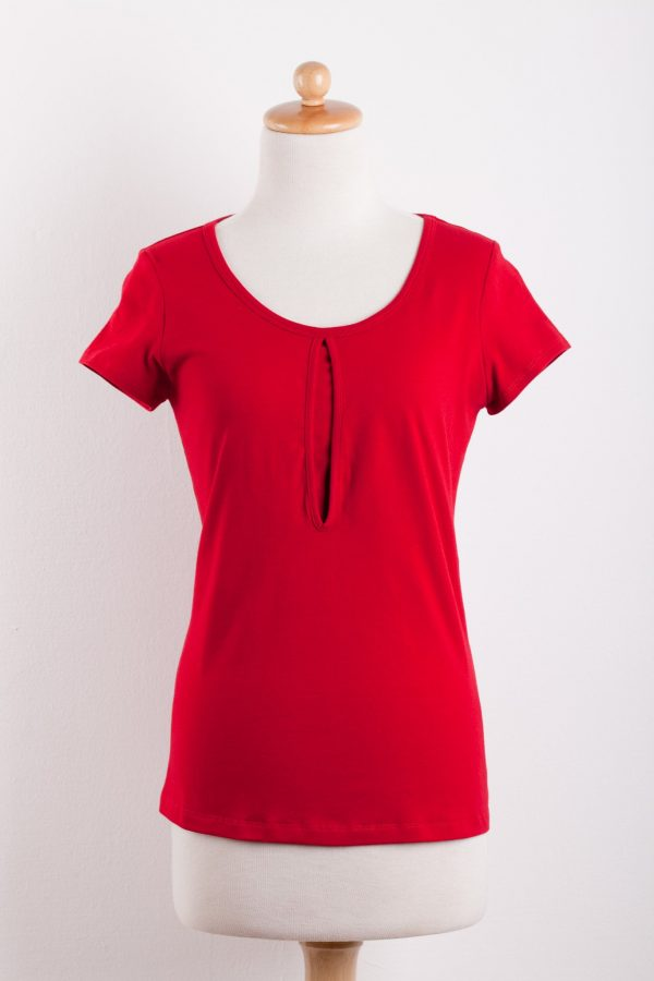 DOTE Keyhole Nursing Top in red