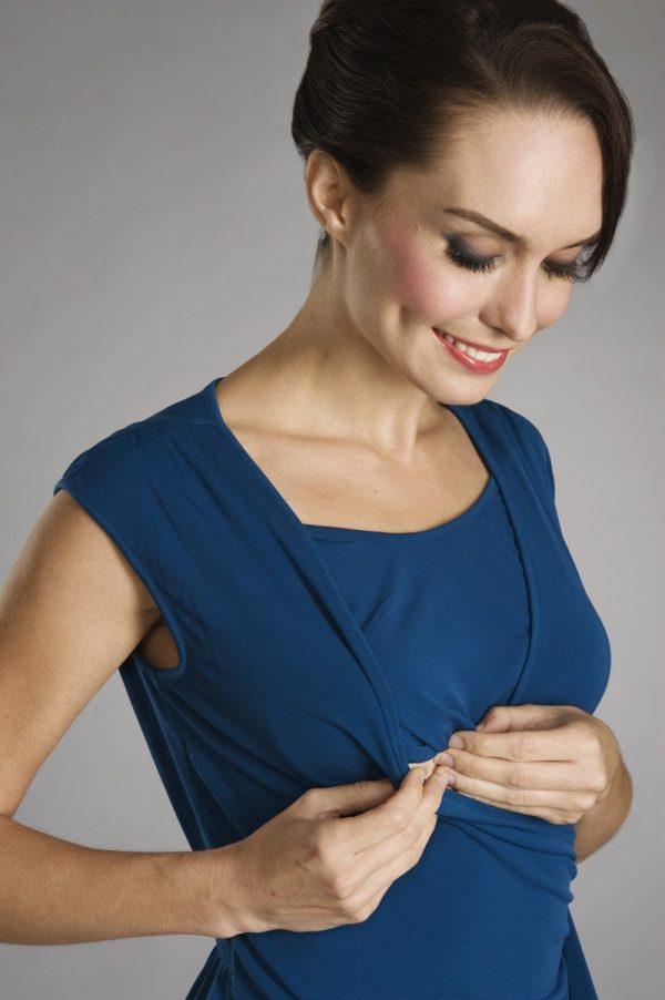 Maternalove Bijou Nursing Dress showing breastfeed