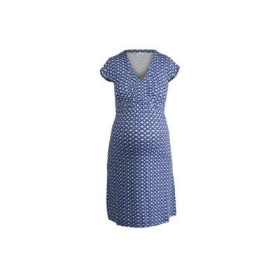 Queen Mum Ethnic Print Maternity Nursing Dress