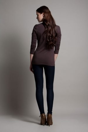 Dote Crossover wrap nursing top brown back view