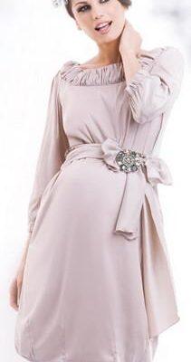 Happy Mum Bellis Beige Maternity Dress