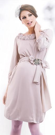 Happy Mum Bellis Beige Maternity Dress