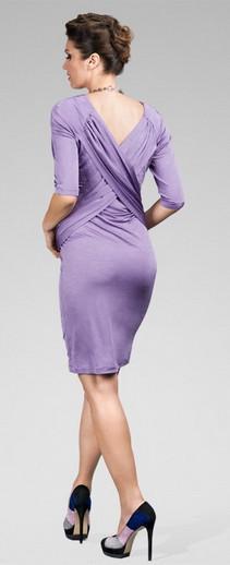 Happy Mum Shiny Violet Maternity Dress
