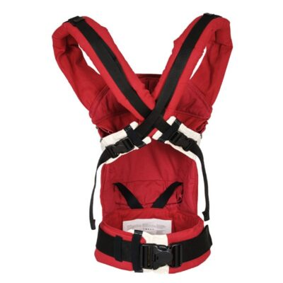 manduca classic baby carrier in red back view with criss cross straps
