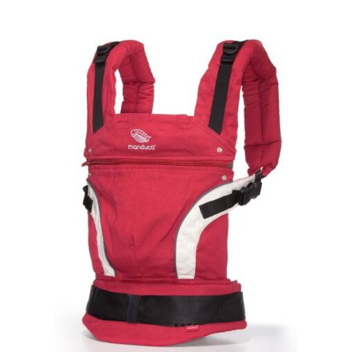 manduca classic baby carrier in red front view