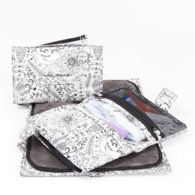melobaby all in one nappy wallet showing different folds