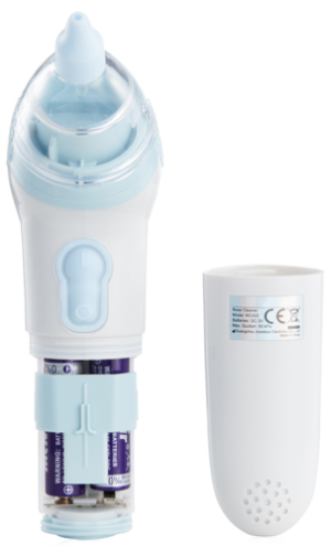 babyheart baby nasal aspirator showing battery compartment