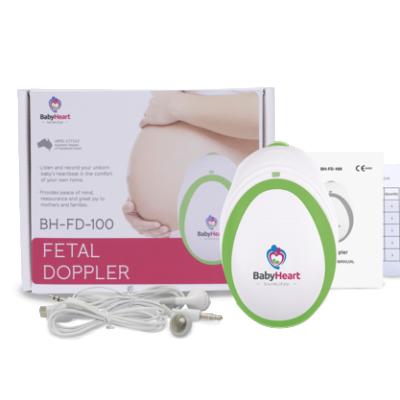 mini fetal doppler showing whats in the box