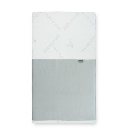 breathe eze mattress protector grey