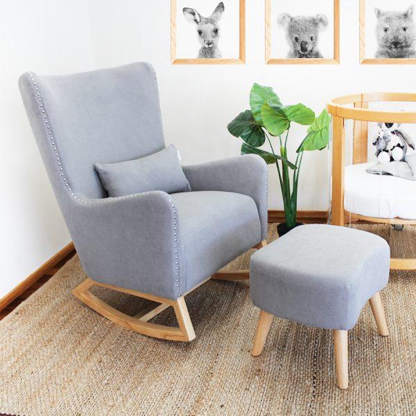 valencia rocking feeding chair in greystone colour