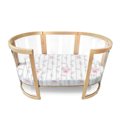 amani bebe organic cotton oval fitted sheet cot