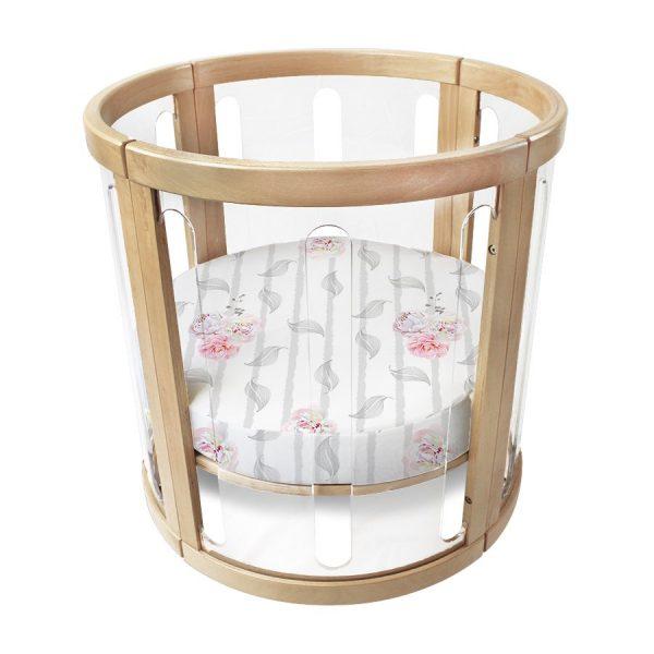 amani bebe organic cotton round fitted sheet