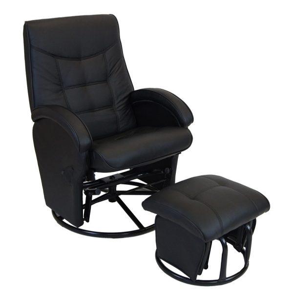 diva glider feeding chair in black