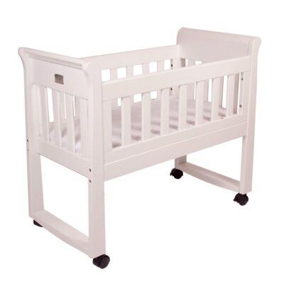 sandton sleigh bassinet style in white