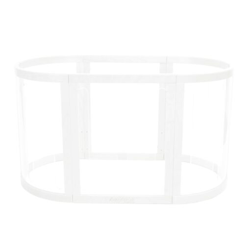 sova cot clear play pet set up in white