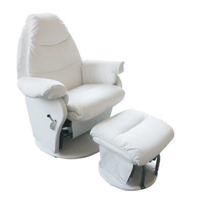 vogue glider feeding chair in white