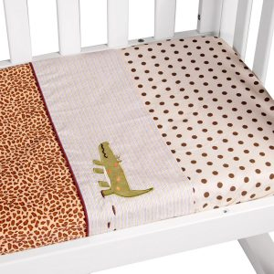 cradle sheet set in wild things theme