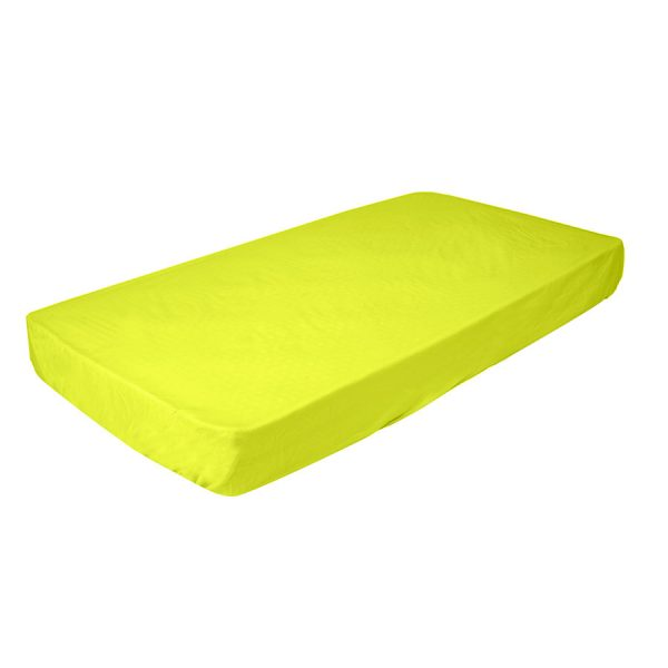 fitted cot sheet in lime