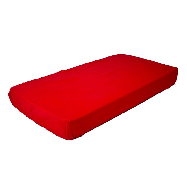 fitted cot sheet in red