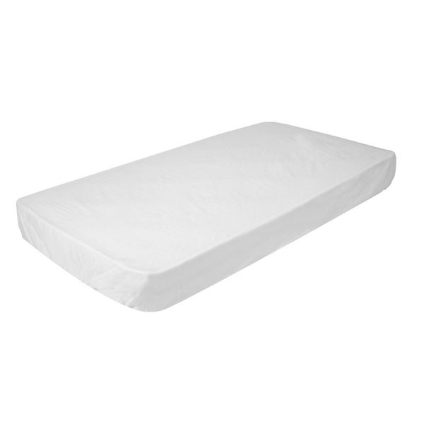 fitted cot sheet in white