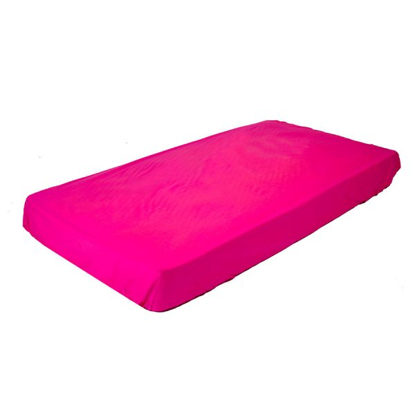 fitted cot sheet in hot pink