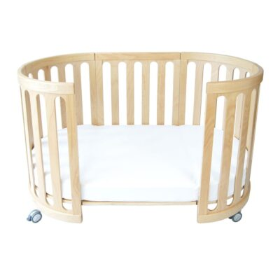 kaylula sova cot as toddler bed in beech colour