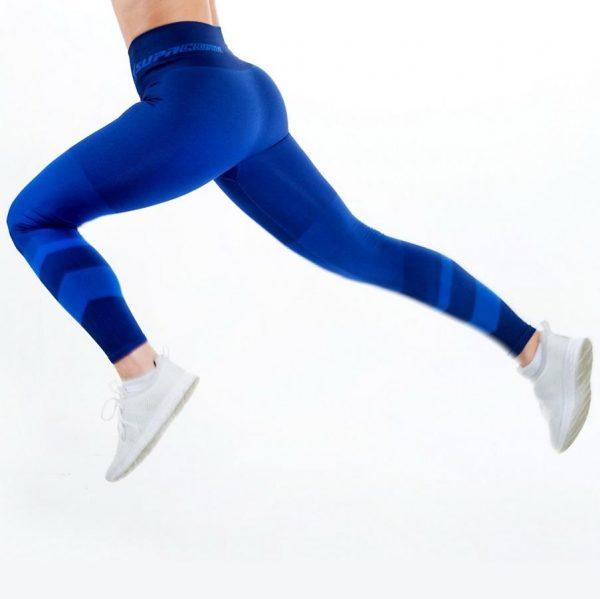 supacore jacinda blue postpartum compression leggings in motion