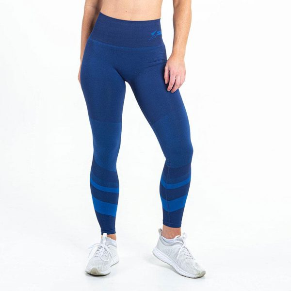 supacore jacinda blue postpartum compression leggings front view