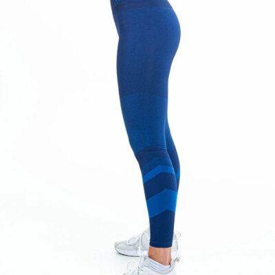 supacore jacinda blue postpartum compression leggings blue side view