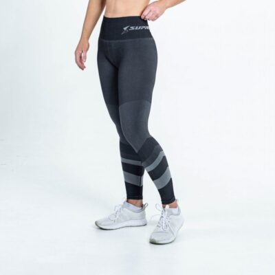 supacore jacinda postpartum compression leggings front view grey