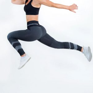 supacore postpartum compression leggings jacinda grey in motion