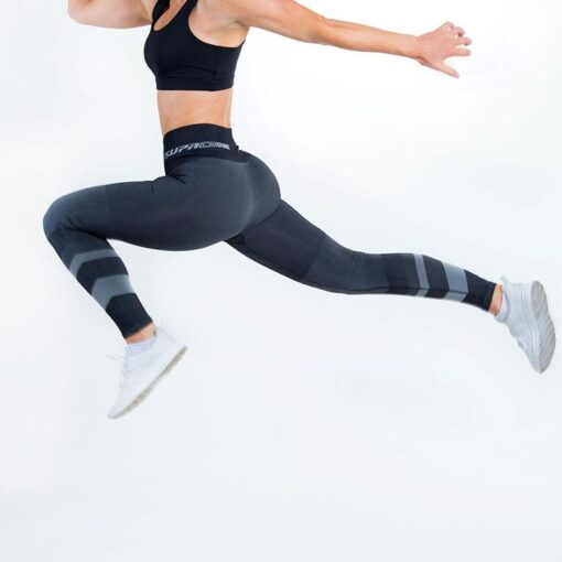 supacore postpartum compression leggings jacinda grey in motion