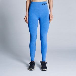 supacore postpartum compression leggings in blue
