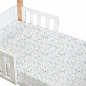 amani bebe standard fitted cot sheet in playful print