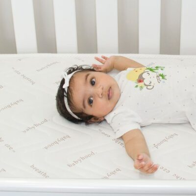 breathe eze cot mattress with baby on board