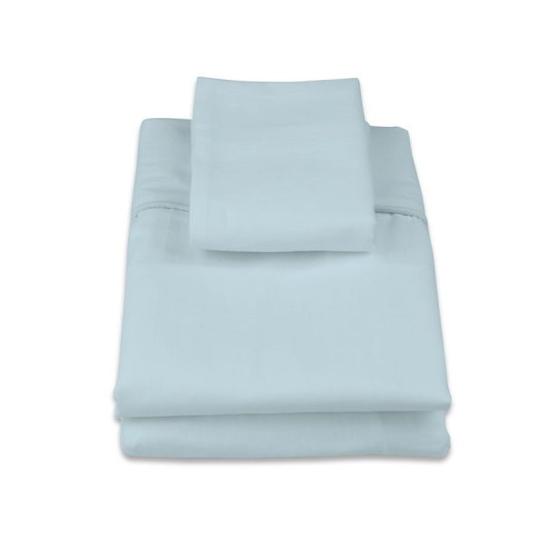 classic cot sheet set in blue