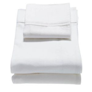 classic cot sheet set in white