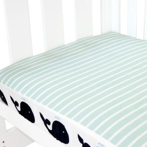 fitted cot sheet collection in whale print
